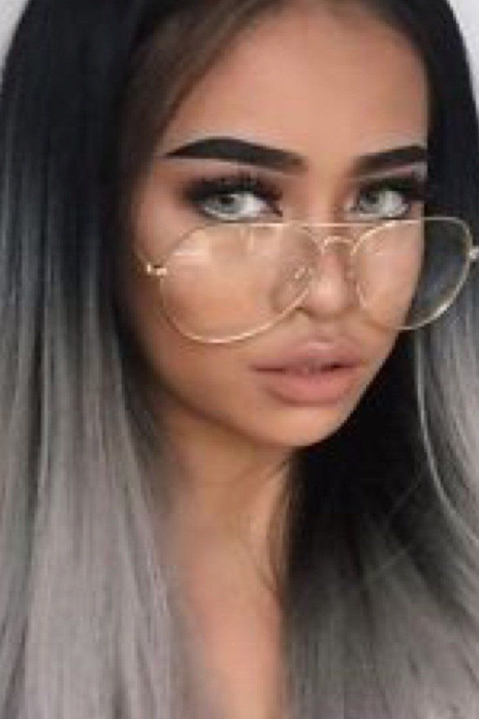 754c1fd803 Modern cool meets  70s-inspired retro flavor with these faux reading glasses.  Slim gold metal aviator frame with clear lens + padded nose bridge.