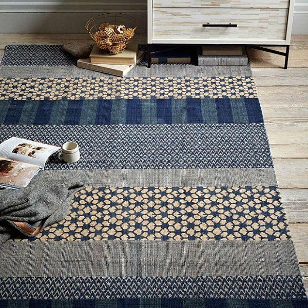 Teppich mit muster  Eklektische Inneneinrichtung teppich muster rustikal streifen ...