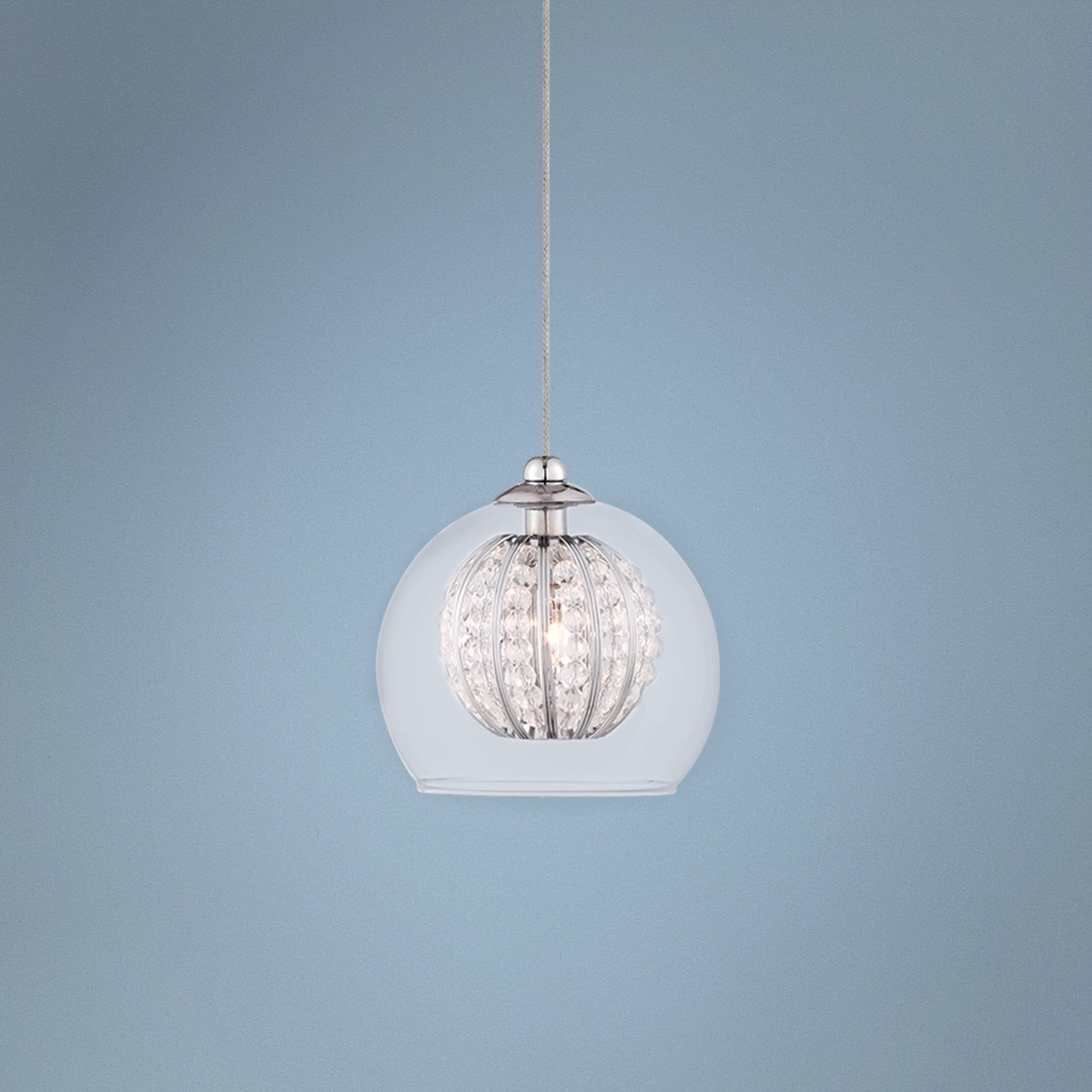 Possini Euro Onida 4 1 W Clear Crystal Glass Mini Pendant Farmhouse Lightingkitchen
