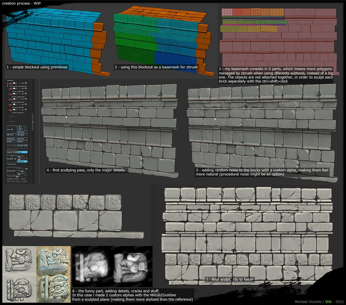 ::LINK:: Orb's Brick Stone Creation - http://www.polycount.com/forum/showthread.php?p=1321690#post132169