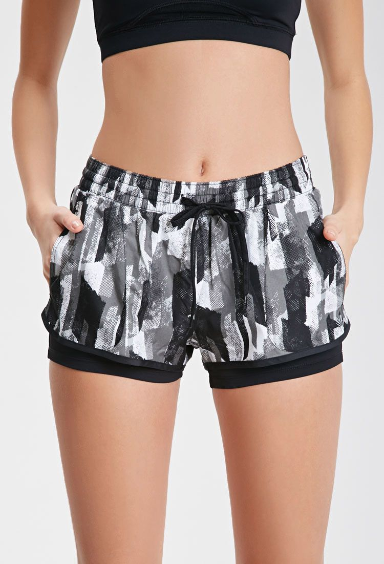 $16  Abstract Print Running Shorts with built in spandex lining | FOREVER21 - 2000116488