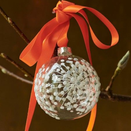 Star Burst Clear Bauble - 30% OFF - Christmas Decorations Sale - Christmas