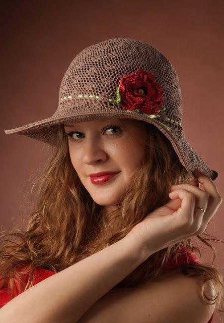Patrón #1036: Sombrero a Crochet   CTejidas [Crochet y Dos Agujas]