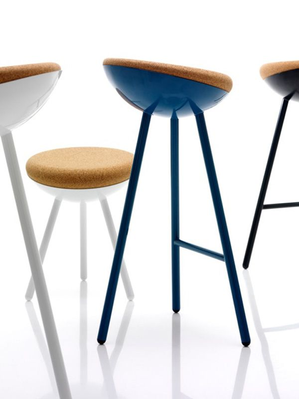 The Boet (Swedish for nest) stool by Note Design Studio is inspired by the elevated, protected and soft bird's home in the trees. The metal frame