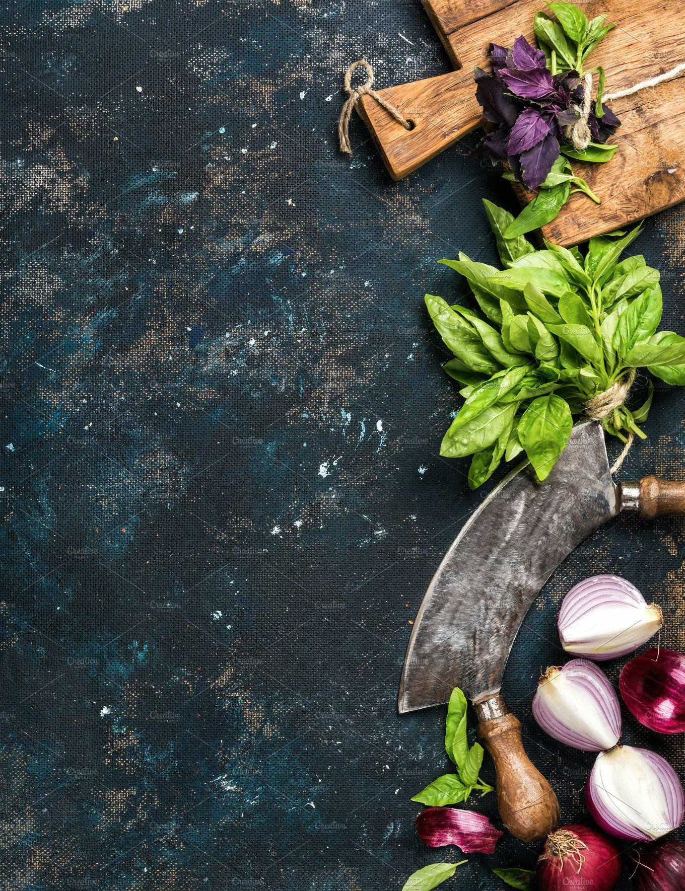 Healthy food cooking background by Foxys on ...
