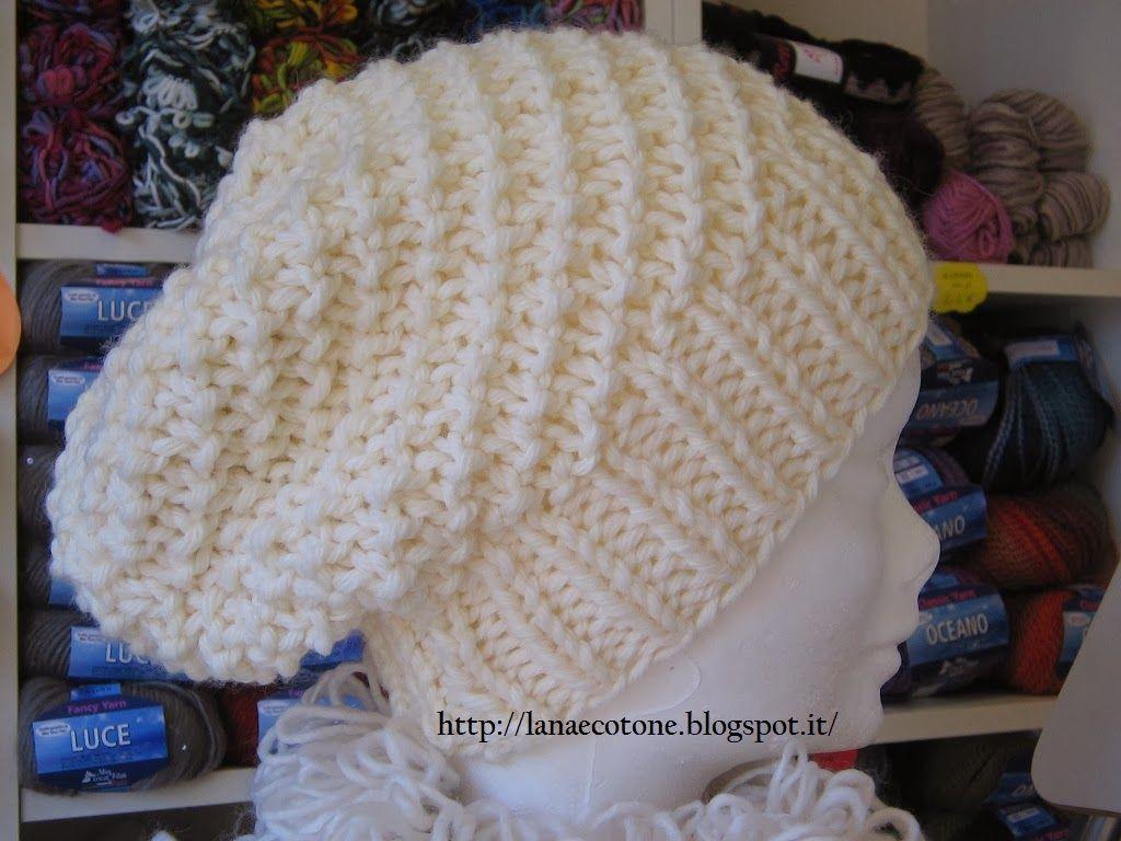 """Lana e Cotone (maglia e uncinetto): Cappello """"Morbidoso"""""""