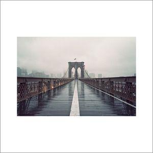 Brooklyn Bridge in Fog by James Chororos, 2012