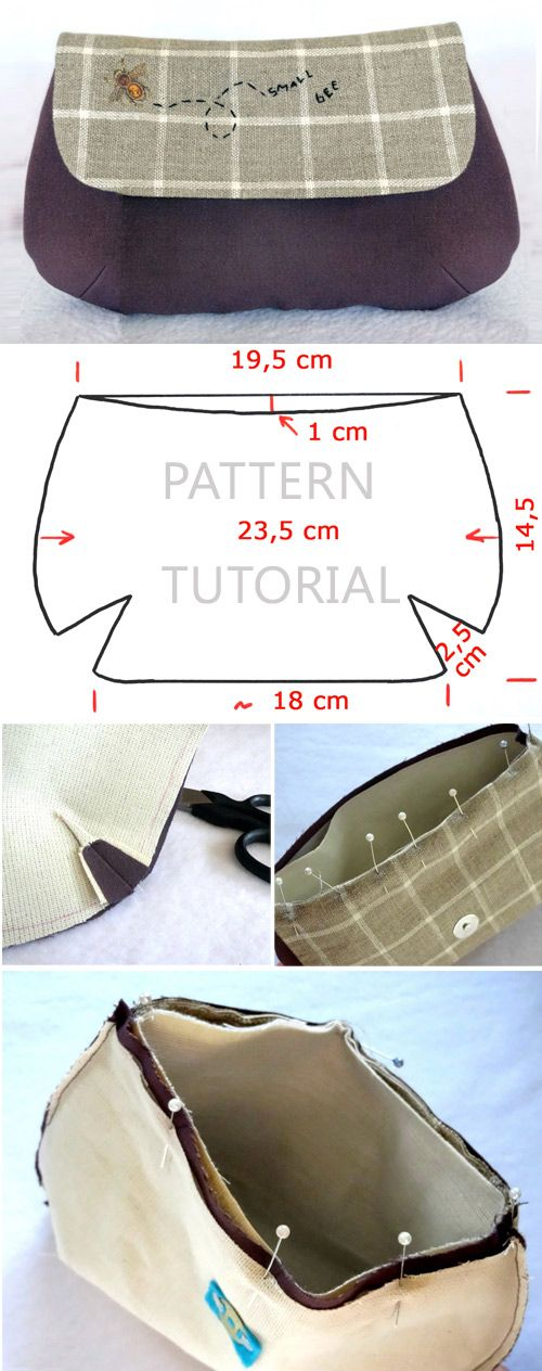 How to Sew a Makeup Bag #bagsewingpatterns