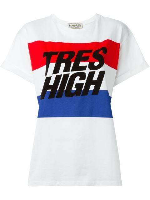 Shoppen Être Cécile 'Tres High' T-Shirt von Smets aus den weltbesten Boutiquen bei farfetch.com/de. In 400 Boutiquen an einer Adresse shoppen.