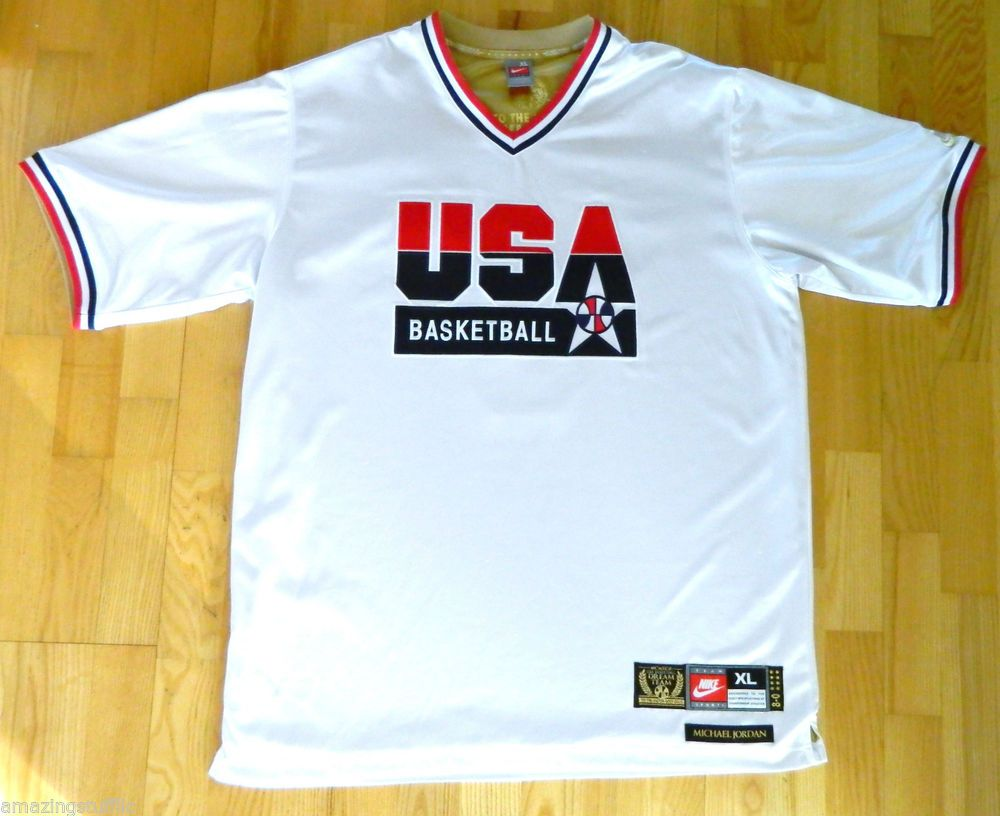 premium selection 0cbcc 4b918 Shooting Shirt Warm Up Jersey Dream Team USA Michael Jordan ...