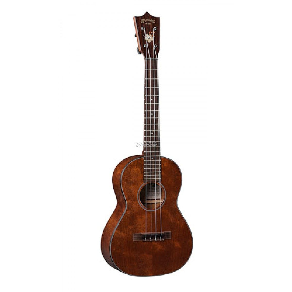 "Martin 1T-IZ Tenor Ukulele. A tribute to legendary artist Israel Kamakawiwo'ole (""Iz""), this tenor ukulele features beautiful quilted mahogany. www.Ukes.com #maui #hawaii #uke #ukelele"