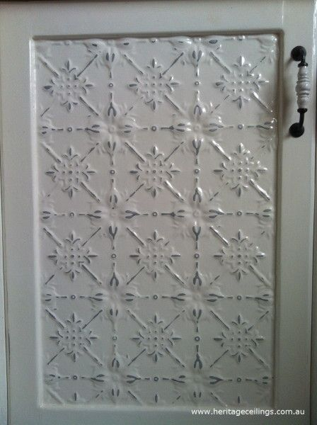 Hand Painted Pressed Tin Kitchen Cabinet Doors Cupboard Doors Makeover Cabinet Doors Kitchen Cabinet Doors