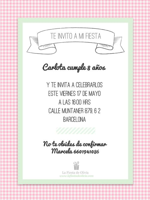 Invitaciones De Cumpleanos En Espanol Kalde Bwong Co