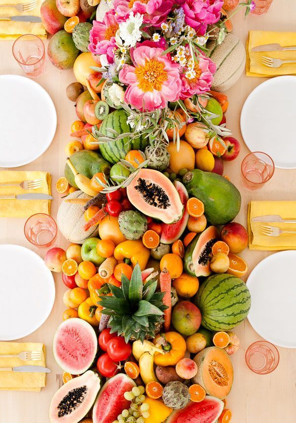 Edible Fruit Table Runner for Summer Parties