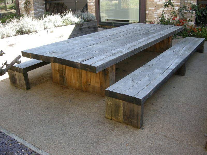 Gartentisch selber bauen anleitung  Gartentisch selber bauen – Anleitung | Pinterest | Gartentisch ...