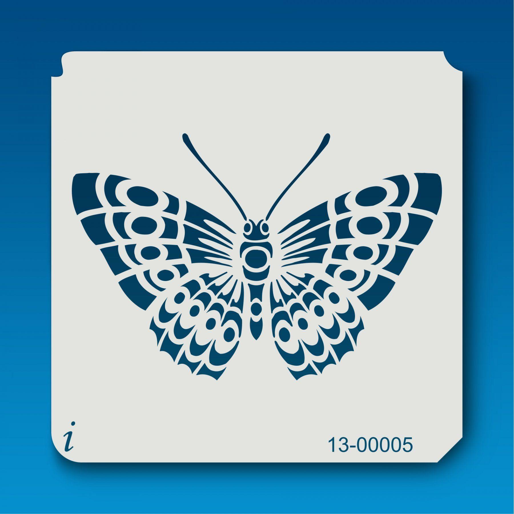 13 00005 Detailed Butterfly 1 Stencil Animal Stencil Stencil Patterns Templates Butterfly Stencil