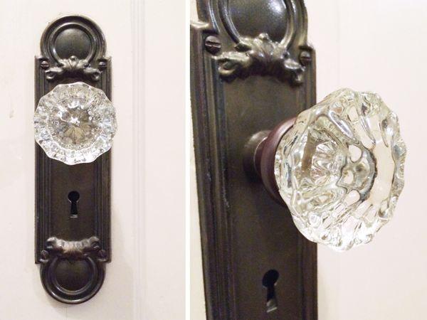 antique glass door knobs. Vintage Glass Doorknobs | Rather Square Antique Door Knobs