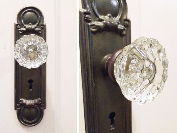 Vintage Glass Doorknobs | Rather Square | Home Improvement Ideas ...