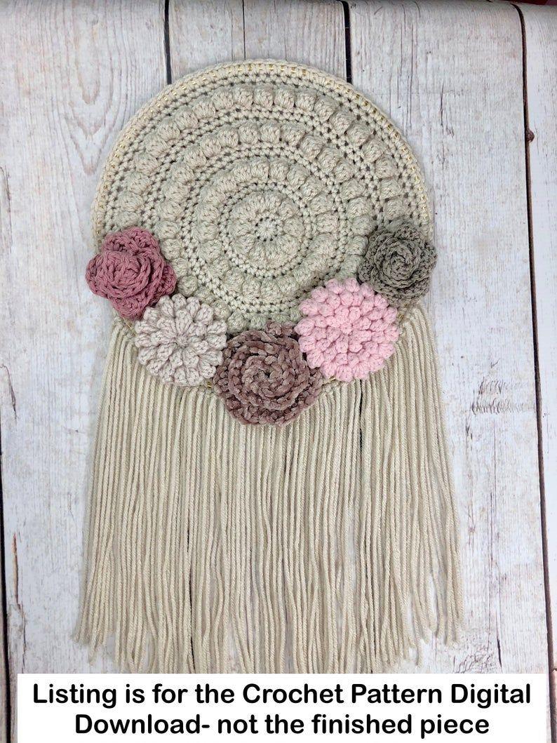 tassel wall decor.htm crochet wall hanging pattern  crochet home decor pattern  crochet  crochet wall hanging pattern  crochet