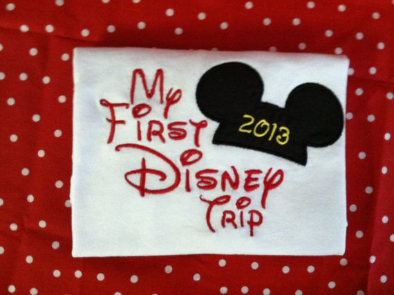 My First Trip to Disney Applique Ears and Year by ItSewMeBoutique, $18.00