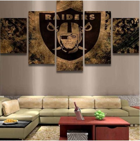 Oakland Raiders 5pcs Football Team Painting Printed Canvas Wall Art Home  Decor | Raiders, Football Team And Raider Nation