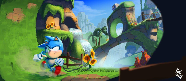 Green Hill Zone Art Sonic Art Batman Wallpaper Iphone Batman Wallpaper