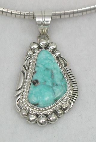 pin jaque turquoise by shadowbox pendant mine navajo roie item