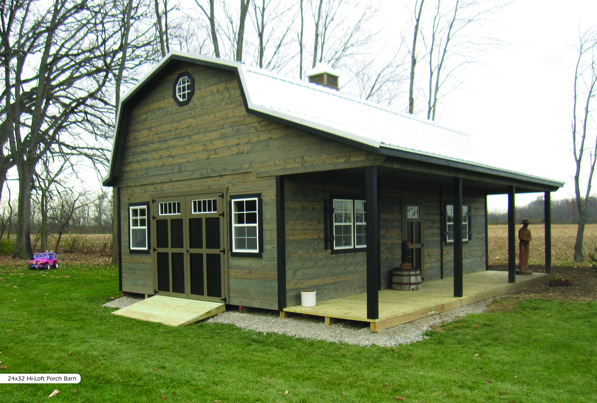 Attractive Hi Loft Porch Barns   Miller Storage Barns