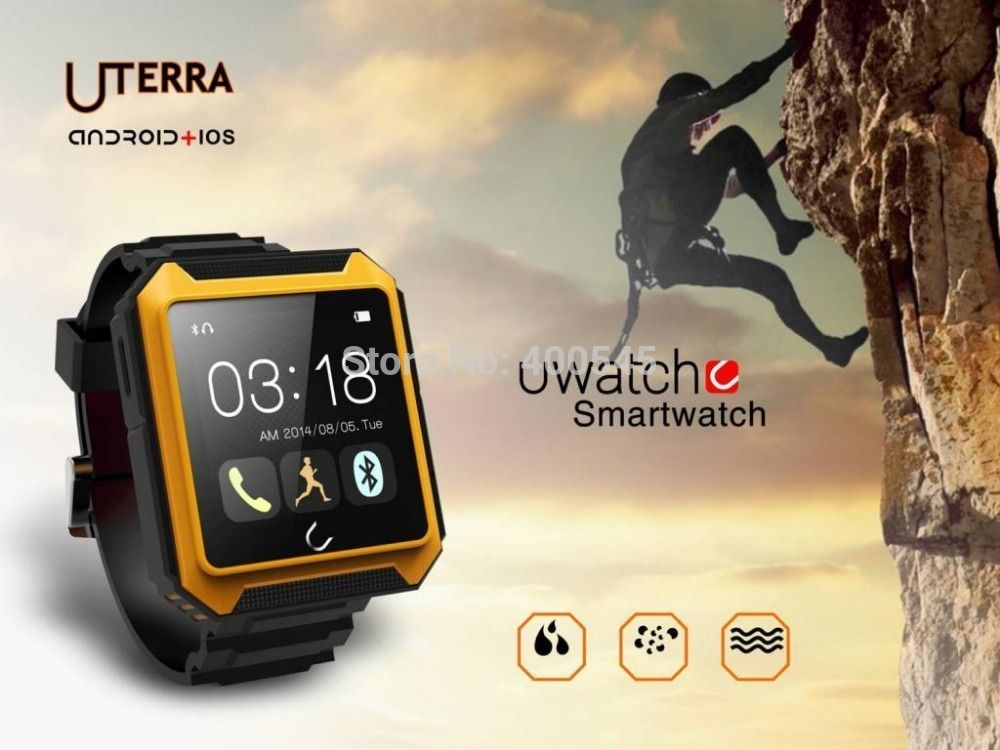 $113.53 (Buy here: http://appdeal.ru/cs4q ) 1.54 inch Touch Screen Smartwatch Waterproof Bluetooth V4.0 Watch Phone Support Call SMS MMS Compass For iPhone Samsung HTC  for just $113.53