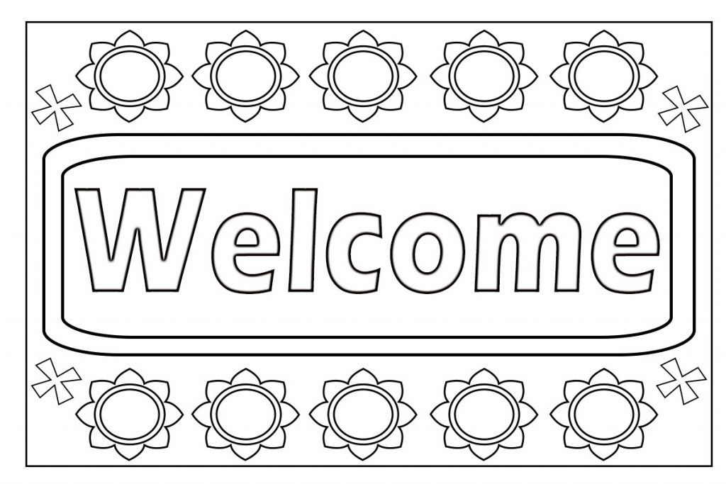 Welcome Coloring Page Coloring Pages To Print Coloring Pages School Coloring Pages
