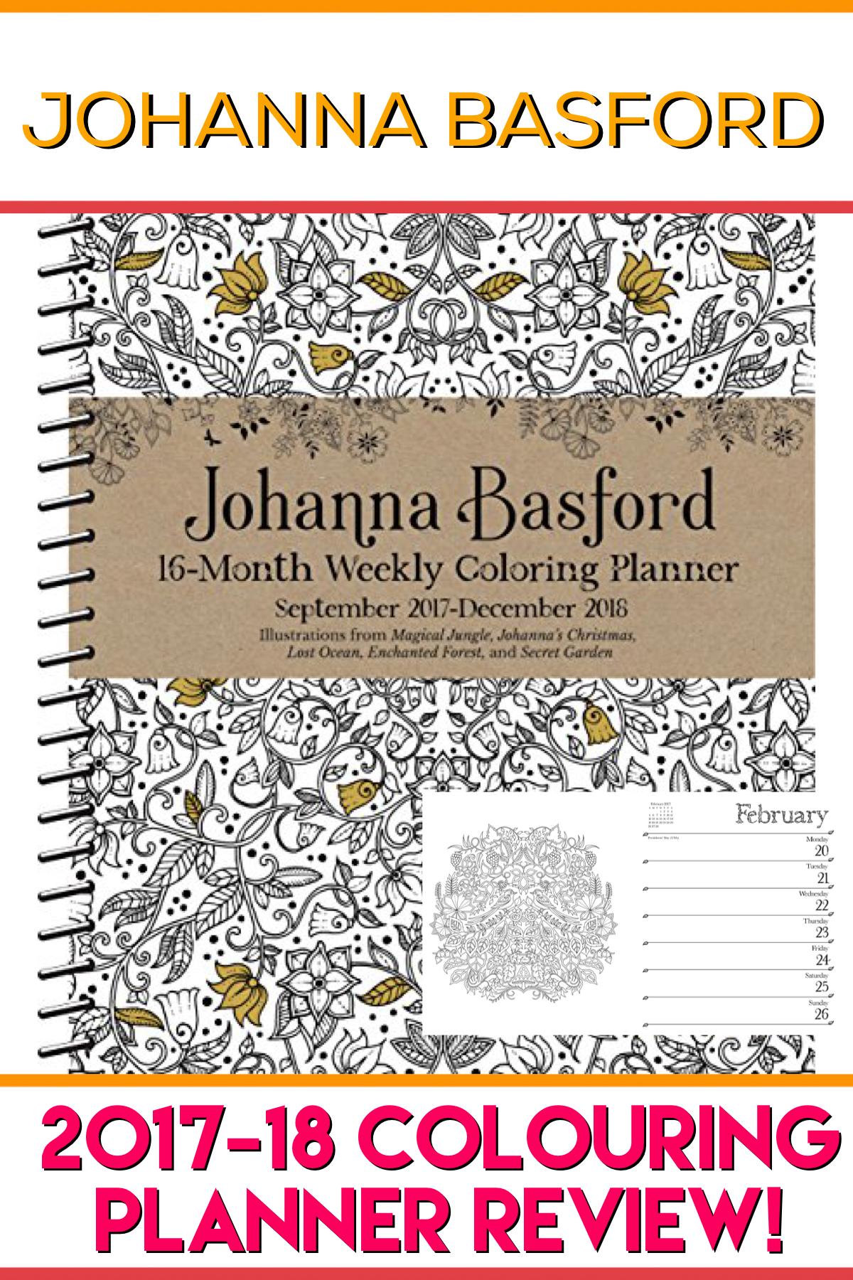 Coloring Books Johanna Basford Colouring Calendar 2017 2018 Book Review