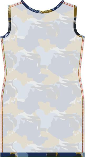 Materialen:  * Jersey ( soepel vallende stof ) (Stofbreedte: 140 cm)   - 125 cm  (maat 34 t/m 44)   Werkbeschrijving:  Het naai...