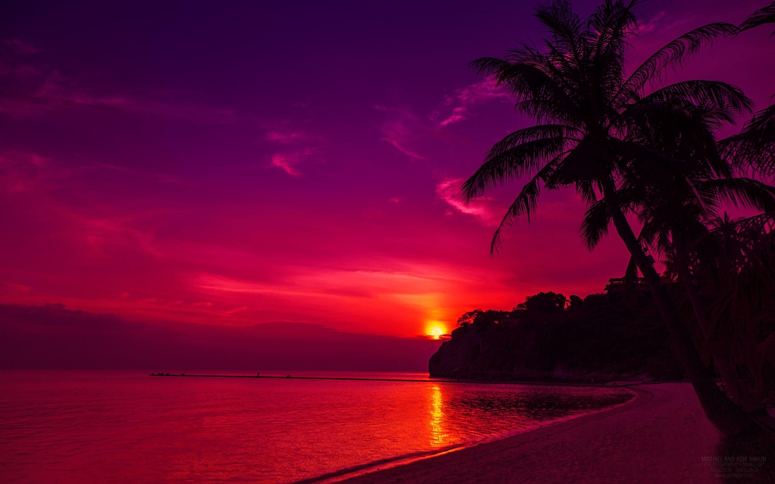 HD Wallpapers Lake Sunsets