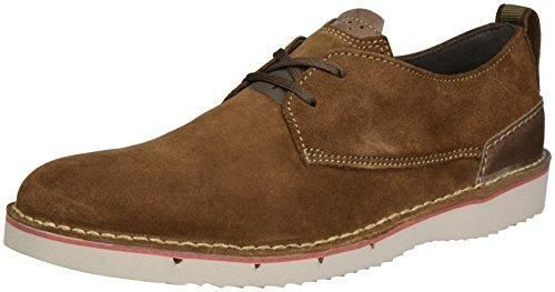 Insun Cordones de Piel Para Hombre Cap Toe Oxford Shoes, Color Marrón, Talla 40 2/3