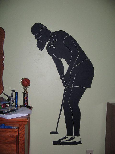 Golf Girl Silhouette Debs Work Pinterest Girl Silhouette