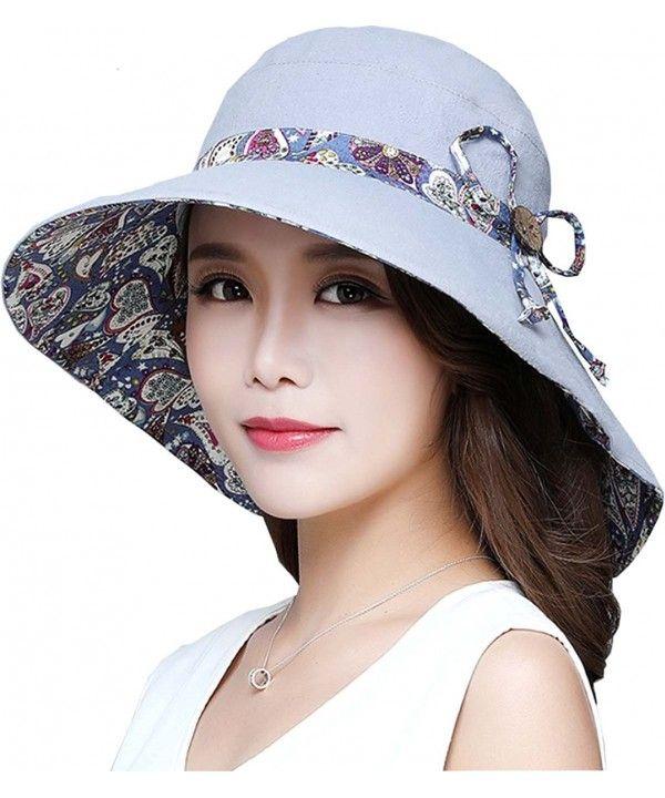 Womens Summer Flap Cover Cap Cotton Anti-UV UPF 50+ Sun Shade Hat ... c5c4abb622