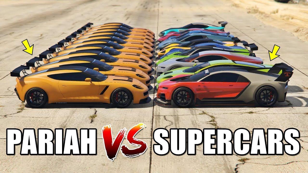 Gta 5 Online Pariah Vs Supercars Part 02 Which Is Fastest Gta 5 Online Super Cars Gta 5