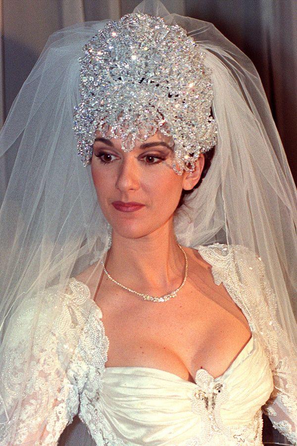 1201754 Inline Jpg 600 900 Celine Dion Wedding Dresses Bridal Hair Fascinators