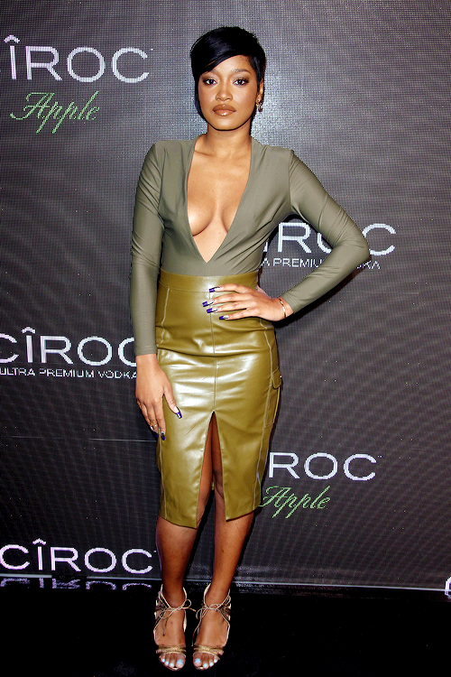 Keke Palmer attends P. Diddy's birthday party in Los