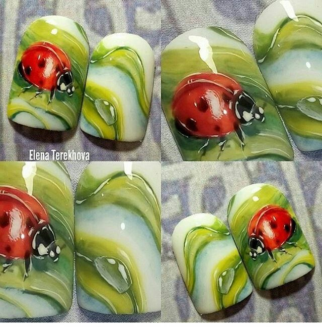Pin de Silvia Fazio en PEDICURIA-MANICURIA | Pinterest | Uñas flores ...