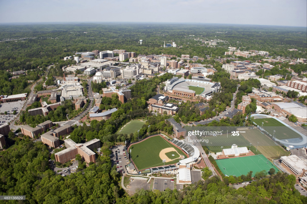 An Aerial View Of The University Of North Carolina Campus And Unc Chapel Hill University Of North Carolina North Carolina Chapel Hill