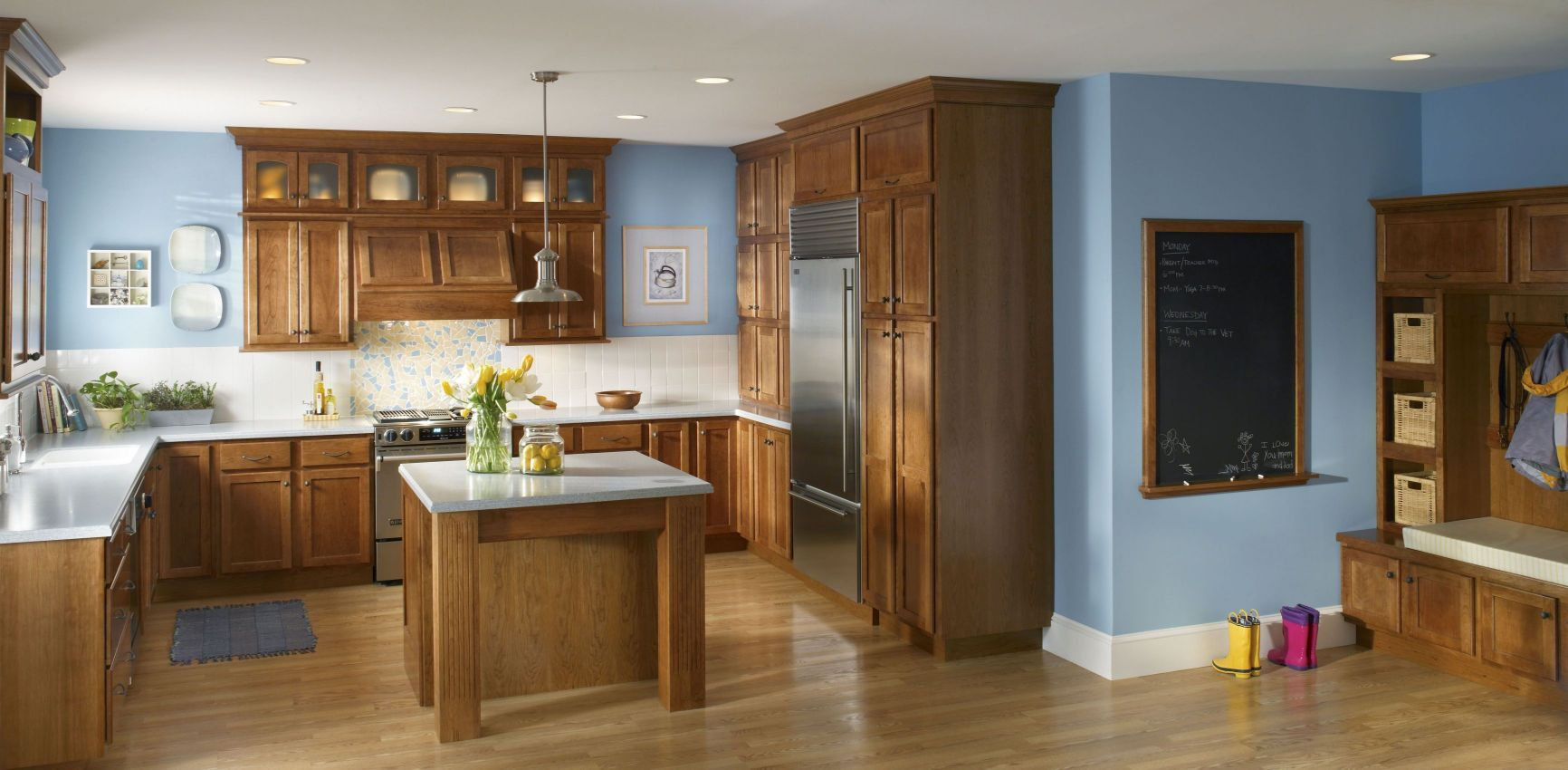 Spacious Blue Kitchen Walls Gallery Of Astonishing Wall Colors ...