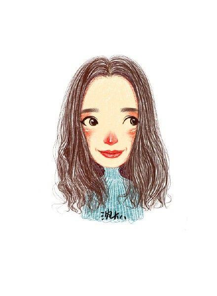 #girl #illustration #rednose