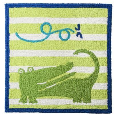 Target Boy Nursery Alligator Rug Navy And Green