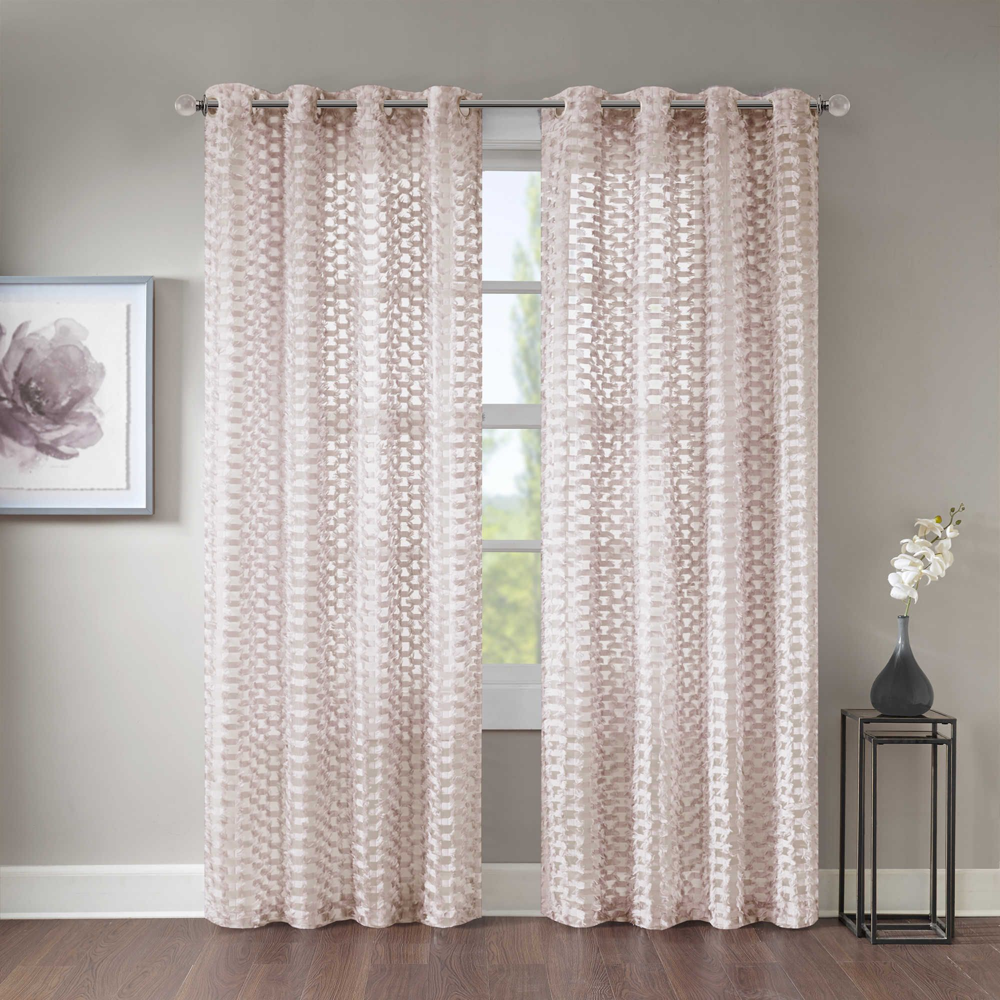 Lavender Sheer Curtains Erin 63 Inch Sheer Grommet Top Window Curtain Panel In Lavender