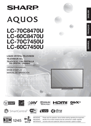 Sharp LcCUCUCUCU Tv Operation Manual