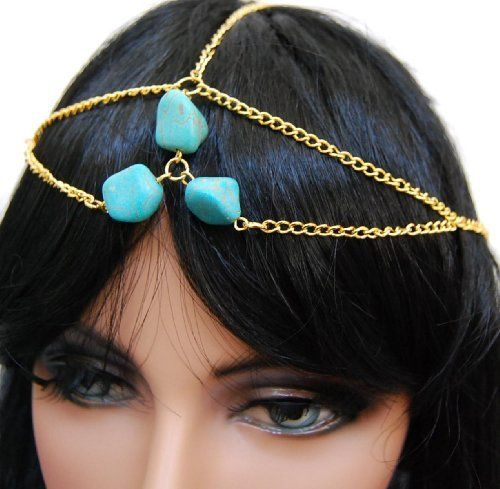 Head Chain - Gold tone with turquoise bead Arras Creations, http://www.amazon.com/dp/B00C9S16A4/ref=cm_sw_r_pi_dp_EilBrb0HQJNQY