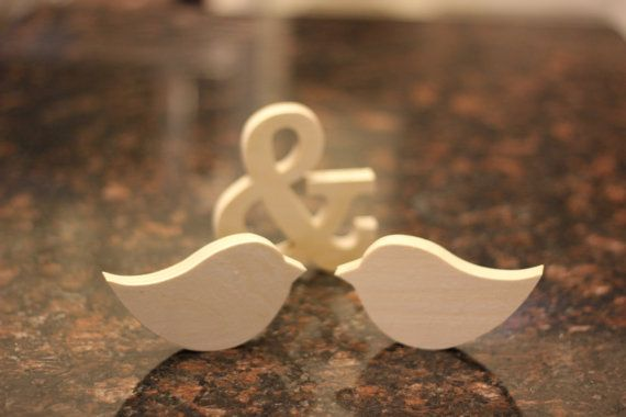 Guest book table..paint yellow and gray Rocking Love Bird Pair and Ampersand Combo by NuptialNotion, $17.99