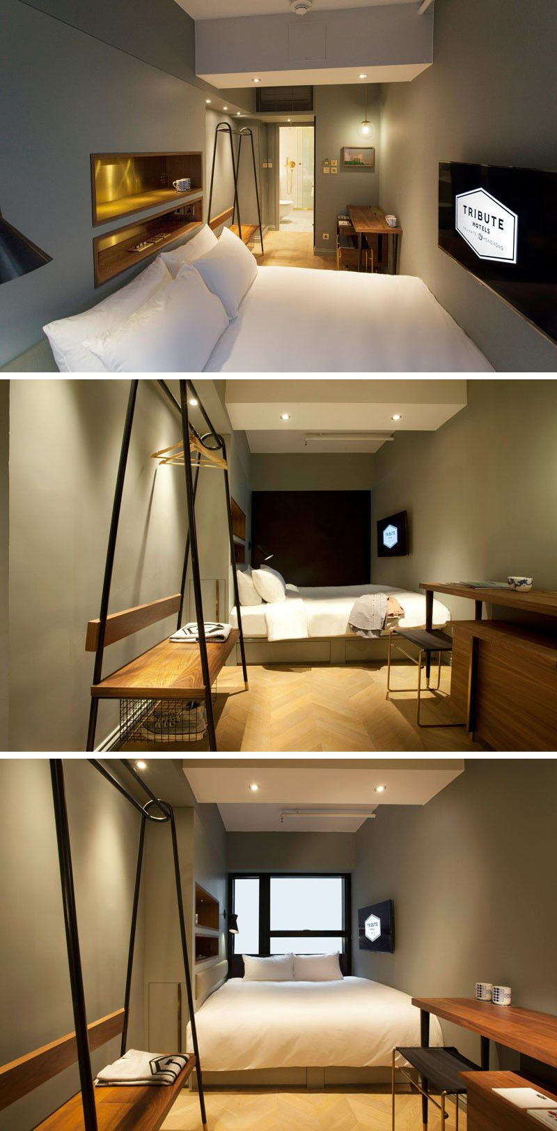 8 Small Hotel Rooms That Maximize Their Tiny Space Tiny Spaces Storage Area And Coat Hanger