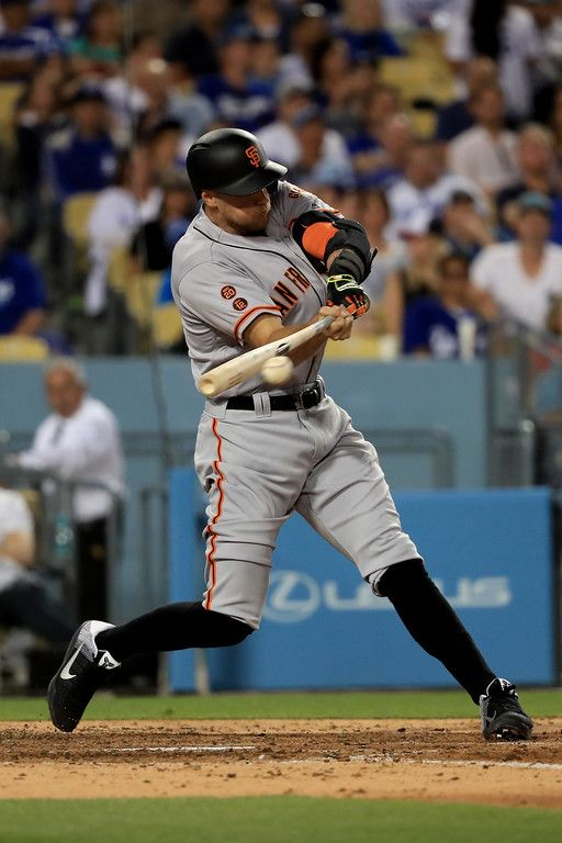 Hunter Pence 8 Of The San Francisco Giants Singles During Fifth Inning